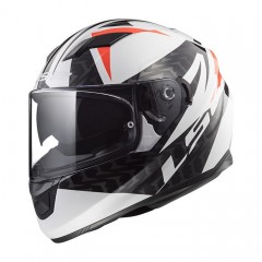 Kask integralny LS2 FF320 Stream Evo Commander White/Black/Red