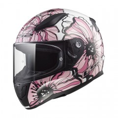 Kask integralny LS2 FF353 Rapid Poppies White/Pink