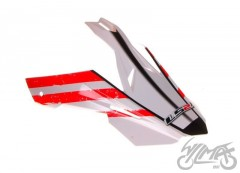 Daszek kasku MX433 Stripe White-Red
