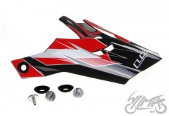 Daszek kasku MX456 factory White-Black Red