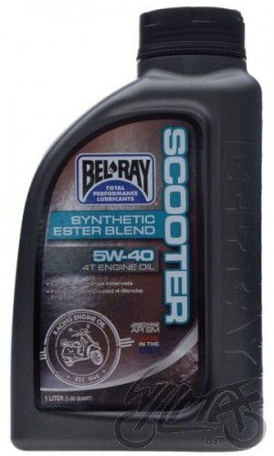 Olej BEL-RAY Scooter Synthetic Ester Blend 4T 5W-40 1L