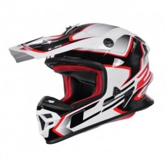 Kask cross/enduro LS2 MX456 Light Compass White Red