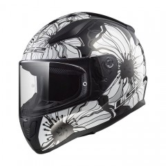 Kask integralny LS2 FF353 Rapid Poppies Black/White