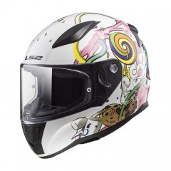 Kask integralny LS2 FF353J Junior Rapid Mini Crazy Pop White/Pink