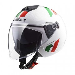 Kask otwarty LS2 OF573 Twister II Combo White/Green/Red /L/