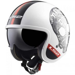 Kask otwarty LS2 OF599 Spitfire Inky White/Black