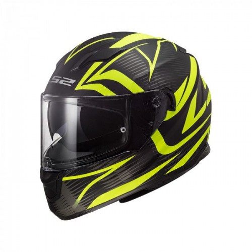 Kask integralny LS2 FF320 Stream Evo Jink Matt Black H-V Yellow