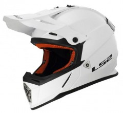 Kask cross LS2 MX437J Fast mini Solid White