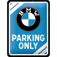 "Tablica metalowa, szyld 15x20cm ""BMW Parking Only"" 26177"