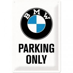 "Tablica metalowa, szyld 20x30 BMW ""Parking Only"" 22241"