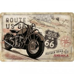 "Tablica metalowa, szyld 20x30 ""Route 66"" 22279"