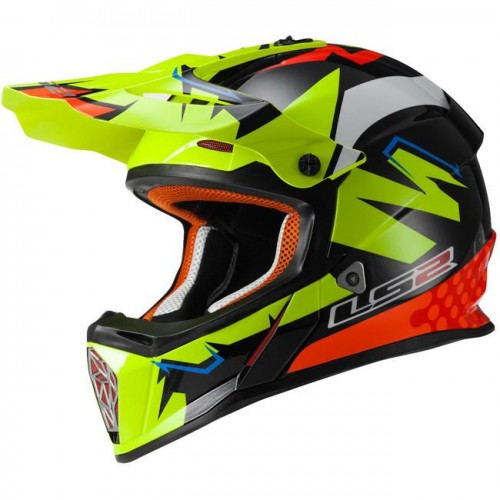 Kask cross/enduro LS2 MX437 Fast Volt