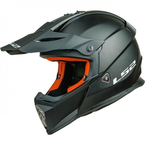 Kask cross/enduro LS2 MX437 Fast Solid Matt Black