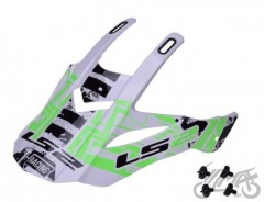 Daszek kasku LS2 MX437 Glitch White/Black/Green